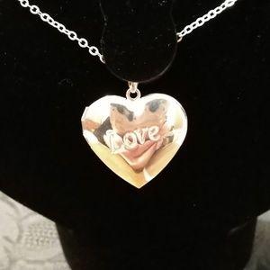 """.925 Sterling Silver Heart Locket """"Love"""""""
